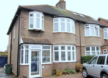 Thumbnail 4 bed semi-detached house for sale in Wordsworth Drive, North Cheam, Sutton