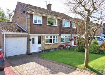 Thumbnail 3 bed semi-detached house for sale in Wellfield Close, Throckley, Newcastle Upon Tyne