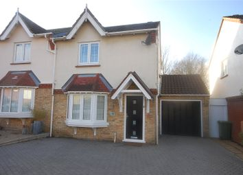 Thumbnail 3 bed semi-detached house for sale in Burr Close, Langdon Hills, Essex