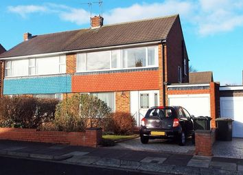 Thumbnail 3 bed semi-detached house to rent in Barrington Avenue, North Shields