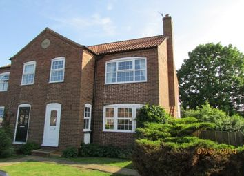 Thumbnail 3 bedroom semi-detached house to rent in Weaverthorpe, Malton