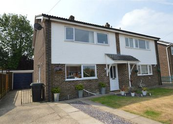 Thumbnail 3 bed semi-detached house for sale in John Howes Close, Easton, Norwich, Norfolk