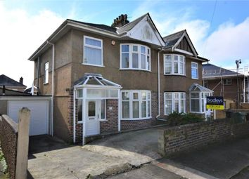 Thumbnail 3 bed semi-detached house for sale in Langhill Road, Peverell, Plymouth, Devon