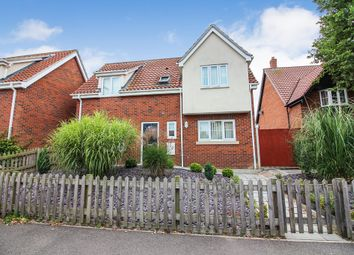 Thumbnail 3 bed detached house for sale in Victory Avenue, Poringland, Norwich
