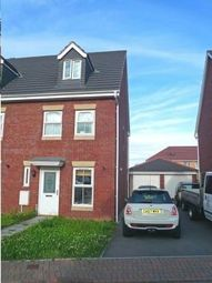 Thumbnail 3 bed town house to rent in Heol Dewi Sant, Cardiff