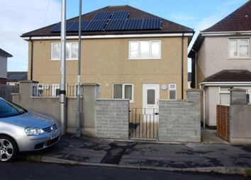 Thumbnail 2 bed semi-detached house to rent in Connaught Road, Knowle, Bristol