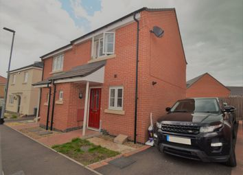 Thumbnail 2 bed semi-detached house for sale in Foxglove Avenue, Thurnby, Leicester