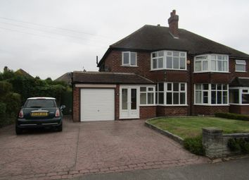Thumbnail 3 bed semi-detached house to rent in Bryanston Road, Solihull