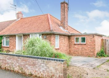 Thumbnail 2 bed semi-detached bungalow for sale in Mill Road, Aylsham, Norwich