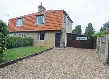 Thumbnail 3 bed semi-detached house for sale in Mill Lane, Woolpit, Bury St. Edmunds