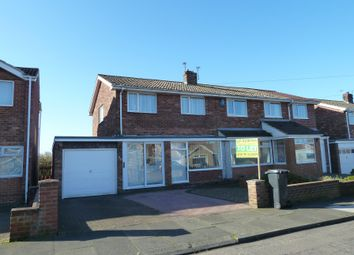 Thumbnail 3 bed semi-detached house to rent in Hotspur Avenue, Bedlington