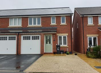 Thumbnail 3 bed semi-detached house to rent in Beacon Close, Taunton