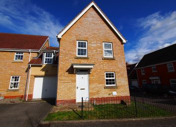 Thumbnail 4 bed link-detached house for sale in Burroughs Way, Wymondham