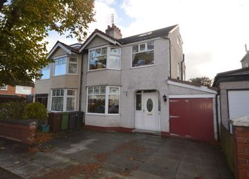 Thumbnail 4 bedroom semi-detached house for sale in Newborough Avenue, Crosby, Liverpool