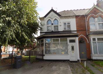 Thumbnail 4 bed end terrace house for sale in Grosvenor Road, Handsworth, Birmingham