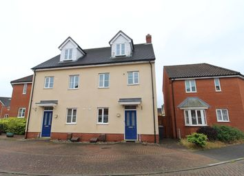 Thumbnail 3 bedroom town house for sale in Blackbird Drive, Bury St. Edmunds