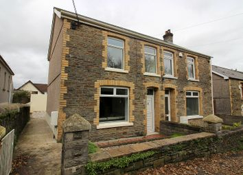 Thumbnail 3 bed semi-detached house for sale in Station Road, Llangynwyd, Maesteg, Bridgend.