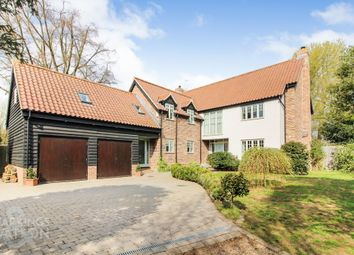 Thumbnail 4 bed detached house for sale in Bury Road, Rickinghall, Diss