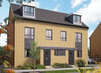 "Thumbnail 2 bed semi-detached house for sale in ""The Monkston "" at London Road, Calverton, Milton Keynes"
