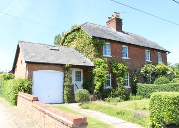 Thumbnail 3 bed semi-detached house for sale in Hornhill Cottages, Sanham Green, Hungerford