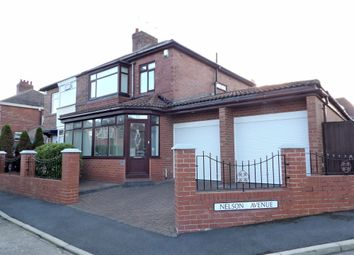 Thumbnail 3 bed semi-detached house for sale in Nelson Avenue, South Shields