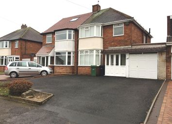 Thumbnail 3 bed semi-detached house to rent in Manor Abbey Road, Halesowen