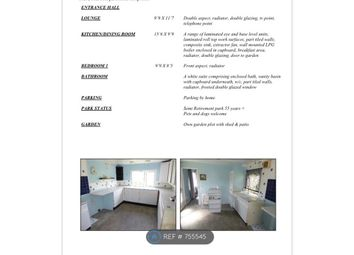 Thumbnail 1 bed mobile/park home to rent in The Hermitage, Warfield, Bracknell