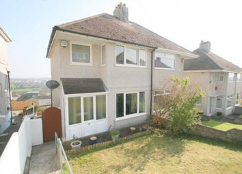 Thumbnail 3 bed semi-detached house for sale in Church Way, Weston Mill, Plymouth