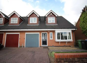 Thumbnail 3 bedroom semi-detached house for sale in The Cuttings, Thurnby, Leicester