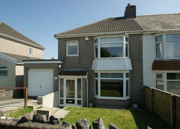 Thumbnail 3 bedroom semi-detached house for sale in Pentyla Road, Cockett, Swansea