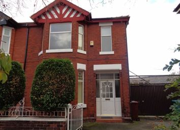 Thumbnail 4 bed semi-detached house to rent in Gloucester Avenue, Levenshulme, Manchester