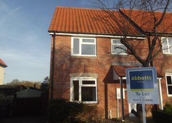 Thumbnail 2 bedroom semi-detached house to rent in Rotheram Road, Bildeston, Ipswich