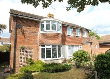 Thumbnail 3 bed semi-detached house for sale in Sussex Gardens, Rustington, Littlehampton