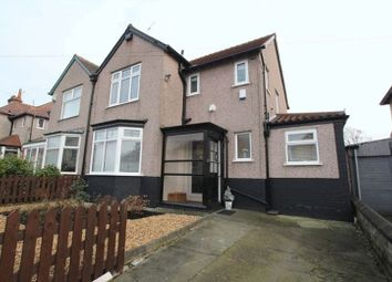 Thumbnail 3 bed semi-detached house for sale in Wembley Road, Mossley Hill, Liverpool