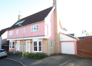 3 bed semi-detached house for sale in Exeter Road, Claydon, Ipswich, Suffolk IP6