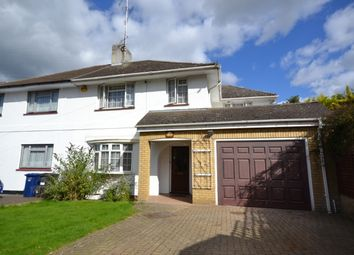 Thumbnail 4 bed semi-detached house to rent in Pyecombe Corner, Woodside Park, Finchley, London