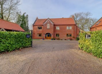 Thumbnail 4 bed detached house for sale in Snetterton North End, Snetterton, Norwich