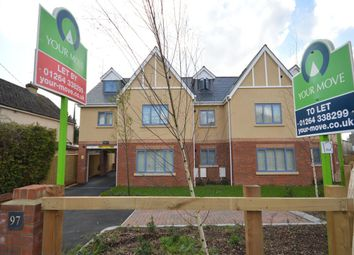 Thumbnail 2 bed flat to rent in Weyhill Road, Andover