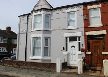 Thumbnail 3 bed end terrace house for sale in Nelville Road, Liverpool