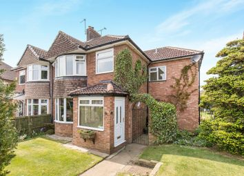 Thumbnail 4 bed semi-detached house for sale in Winding Way, Alwoodley, Leeds