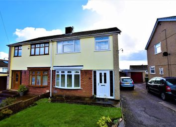 Thumbnail 3 bed semi-detached house for sale in Greenmeadow Court, Llantrisant, Pontyclun