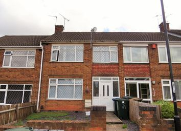 Thumbnail 3 bed terraced house to rent in Deerhurst Road, Holbrooks, Coventry