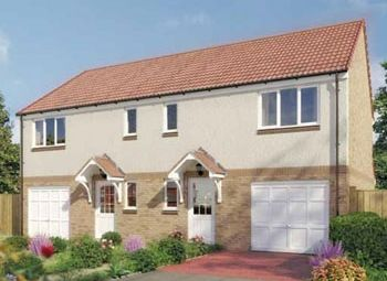 "Thumbnail 3 bed semi-detached house for sale in ""The Newton"" at Whitehouse Gardens, Gorebridge"