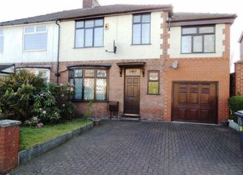 Thumbnail 4 bed semi-detached house for sale in Lumb Lane, Audenshaw, Manchester