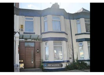 Thumbnail 3 bed terraced house to rent in Woodchurch Lane, Birkenhead
