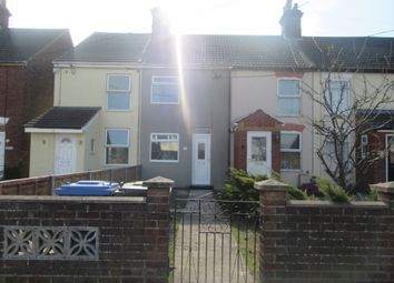 Thumbnail 3 bed terraced house to rent in Beccles Road, Oulton Broad