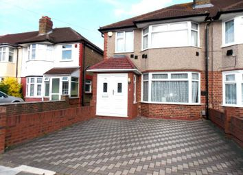 Thumbnail 3 bed semi-detached house to rent in Ash Grove, Heston, Hounslow