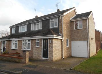 Thumbnail 4 bed semi-detached house for sale in Wansbeck Road, Bedford, Bedfordshire