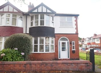 Thumbnail 3 bedroom semi-detached house to rent in Lindum Avenue, Old Trafford, Manchester