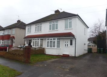 Thumbnail 3 bed semi-detached house to rent in Cottimore Crescent, Walton-On-Thames